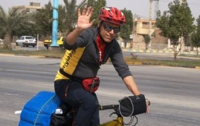 سفیر محیط زیست وارد بوشهر شد/ دوچرخه سواری از اروند تا بوشهر