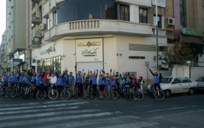 برگزاری همایش دوچرخه سواری برای هوای پاک و نماهایی از آن