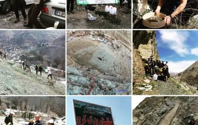 درخت کاری در پل خواب با تلاش سنگ نوردان باشگادماوند و آرش و خانه کوهنوردان تهران و ….