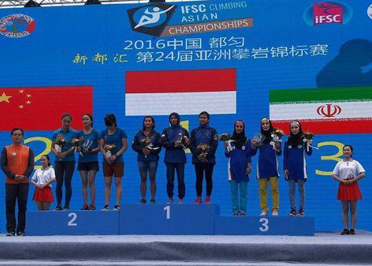کسب مدال برنز تیمی سرعت بانوان  و چهارم تیمی آقایان در مسابقات قهرمانی آسیا