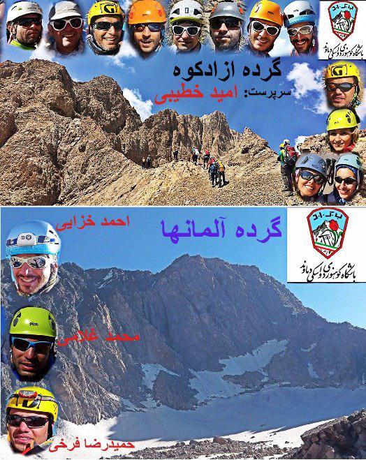 گزارش پیمایش گرده علم کوه و آزادکوه در نشست هفتگی دوشنبه ۶ شهریور