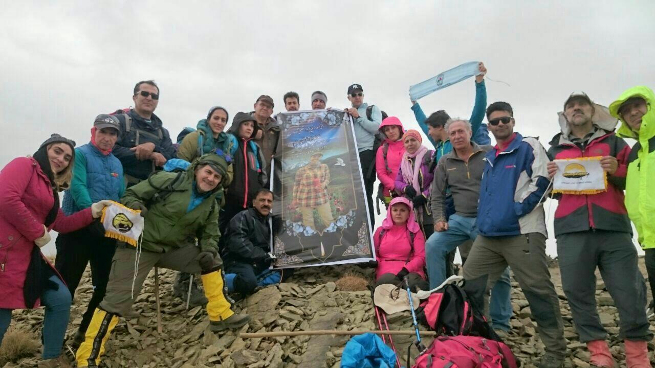 گزارش صعود به قله مردنوروز یاد بود آسیه مصیبی ۱۲ آبان ۹۶
