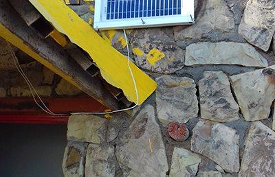 در جان پناه قله داراباد سیستم پنل خورشیدی نصب شد