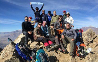  گزارش برنامه صعود به قله آرا کوه ۸ دی ۹۶