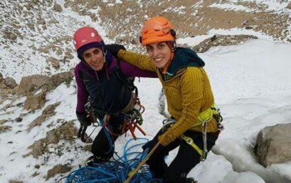 اولین صعود مستقل بانوان روی آبشار نوا