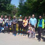 گزارش برنامه رکاب زنی و بازدید از باغ گیاه شناسی ملی ایران