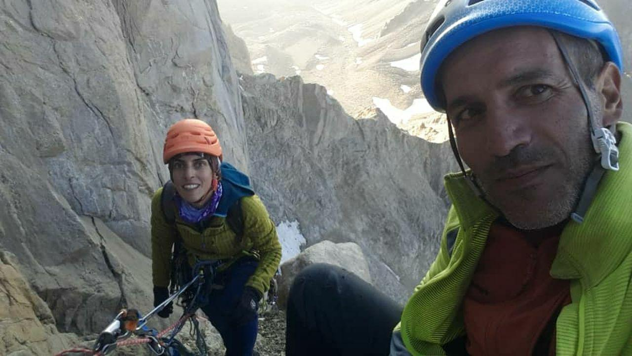 شادباش به حسن گرامی – فاطمه حاجی کریم لو برای  پیمایش راه آرش بر روی دیواره علم کوه