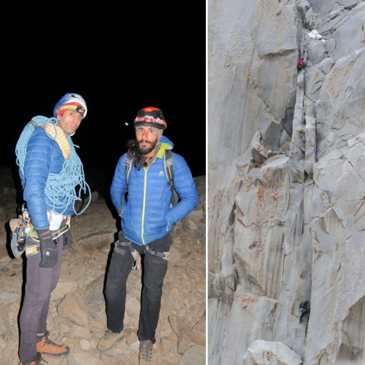 شادباش پیمایش مسیر۴۸ دیواره علم کوه با روش طبیعی